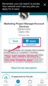 LinkedIn Apply Screen