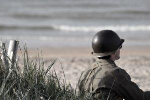 soldier on beach