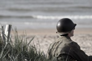 soldier on beach